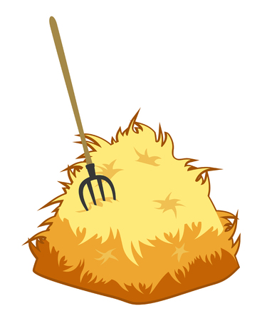 Pitchfork and a haystack Vettoriali