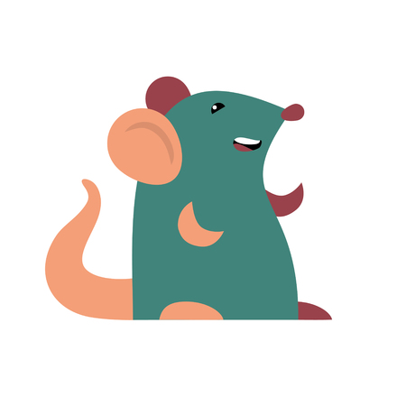 Happy mouse illustration.