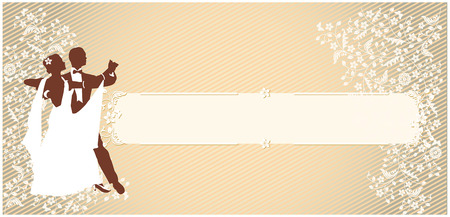 man and woman. a dancing couple. vintage horizontal background. vector