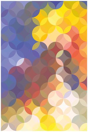 Colorful circles, mosaic. Abstract background. Vector flat illustration