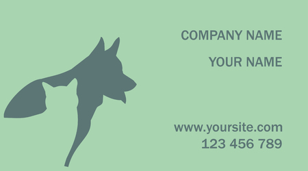 business card. cat and dog. vector illustration Illustration