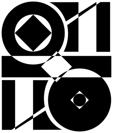 abstraction and geometric cutting. monochrome vector background