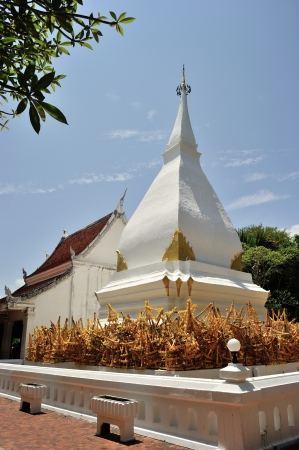 The Buddhist stupa built in c. 1560 by Laotian and Thai kings. Located in Dan Sai district, Loei province, Thailand 版權商用圖片