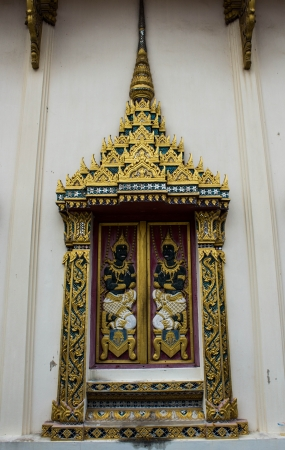 ayutthaya: window of hor phra nak in thailand
