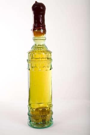 Bottle of lemon vodka