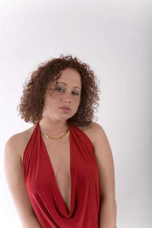 Pretty girl in red Stok Fotoğraf