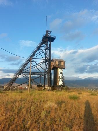butte: Old butte copper mine Stock Photo