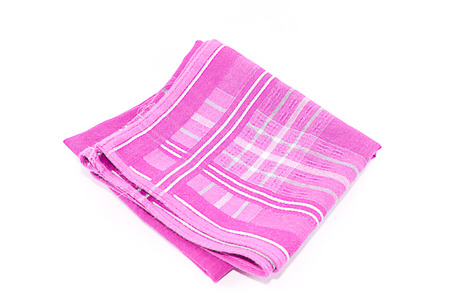 A object of Pink Scott Handkerchief isolated on white background. Stock Photo