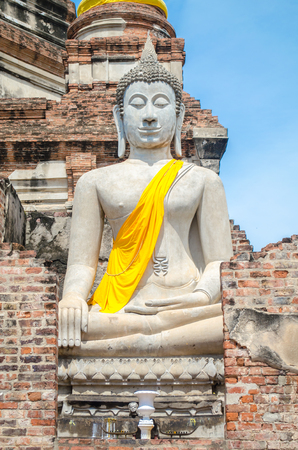 Buddha Statue at Ayutthaya city in thailand.