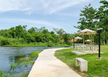The Kaeng Krachan District Resort in Phetchaburi Thailand in the morning.