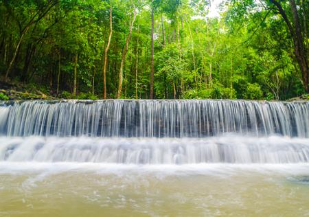 Waterfall of Thansadej - Koh Phangan National Park in Suratthani Thailand.