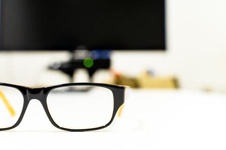 Eyeglasses on isolated.