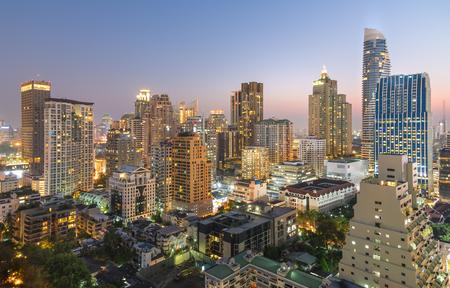 Editorial: Bangkok City, Thailand. Bangkok City has city of business and communication in the morning with sunrise at Siam Bangkok Thailand.