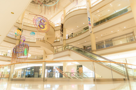 Editorial: Bangkok City, Thailand, 8th May 2017. Gaysorn Village in Atrium Gallery zone. Gaysorn Village (a.k.a. Gaysorn Plaza), Bangkok's first luxury shopping centre with a long history of groundbreaking firsts housing the world's finest fashion.