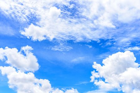 The nature of blue sky with cloud in the morning. 版權商用圖片
