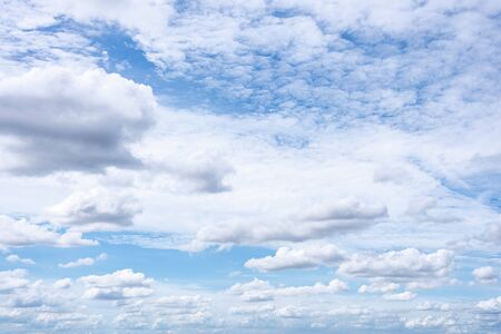 The nature of blue sky with cloud in the morning and summer season.