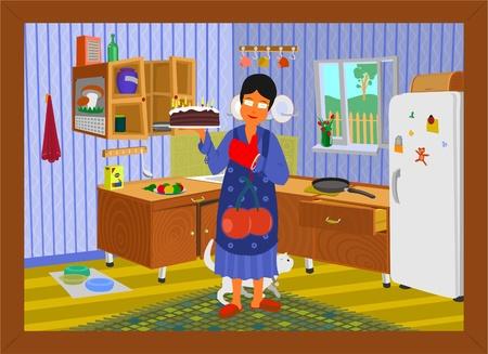 Бабушка с мальчиком на кухне порносекс фото 36-569