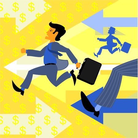 investor: race at a stock exchange Illustration