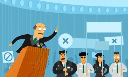 Political debate Ilustracja