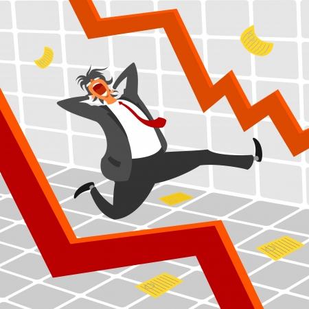 Exchange and man the panic Stock Vector - 18386212