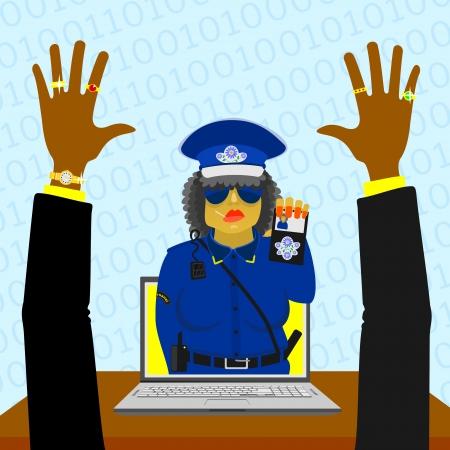 Virtual woman police Stock Vector - 18386198