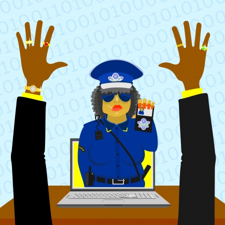 Virtual woman police Stock Vector - 18386198