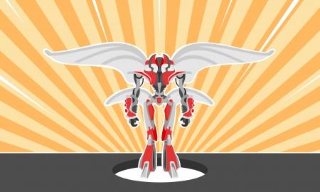 Military robot Illustration