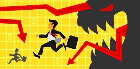 financiele crisis: Financiële crisis Stock Illustratie