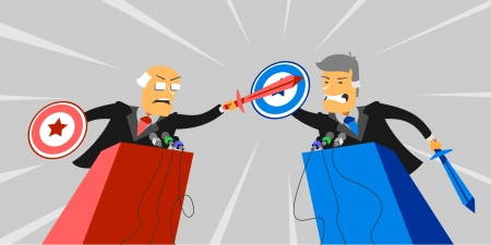 debate: Political debate Illustration