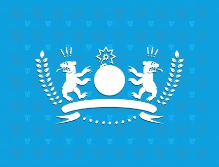 Funny heraldry Stock Vector - 18549301