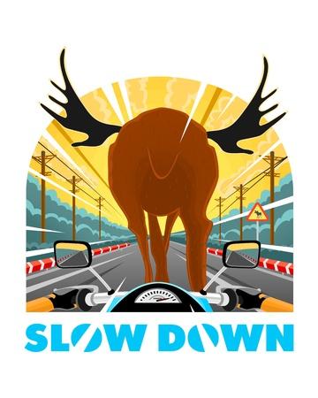 SlowDown Stock Vector - 19245341