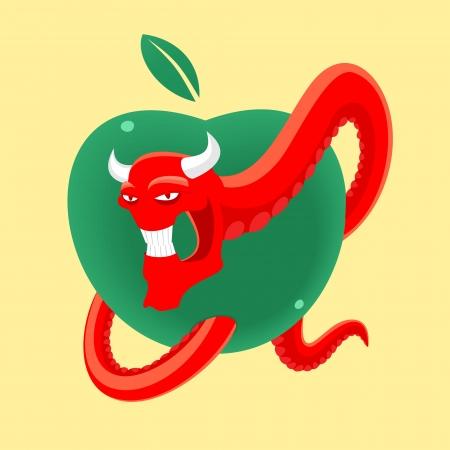 forbidden fruit Stock Vector - 20879237