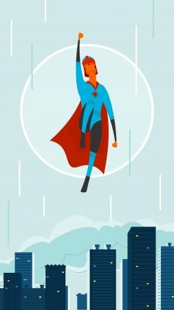 hero in city