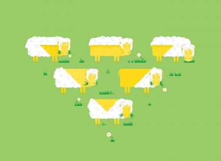 Merry herd Stock Vector - 21163891