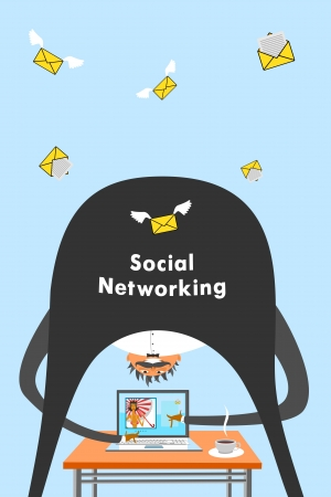 Internet and social networking Stock Vector - 21469846
