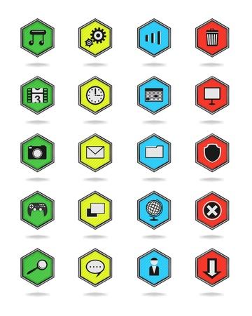 Icons hexagon Stock Vector - 21925851
