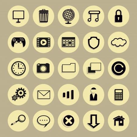 Round icon Stock Vector - 21973029