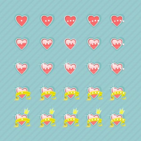 substrate: Conjunto de corazones y niveles