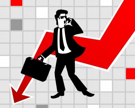 panic: Businessman in panic Illustration