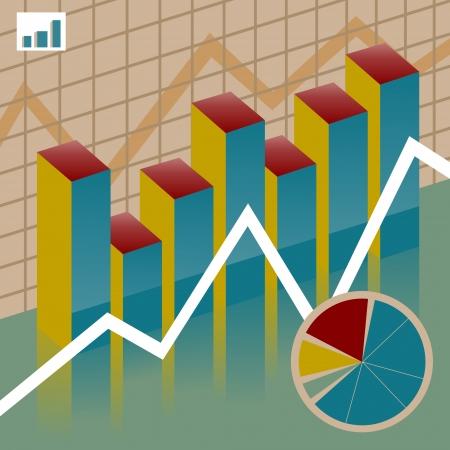 Set chart economy Stock Vector - 23657053