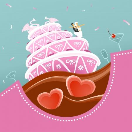 wawe: Wedding Cake Illustration