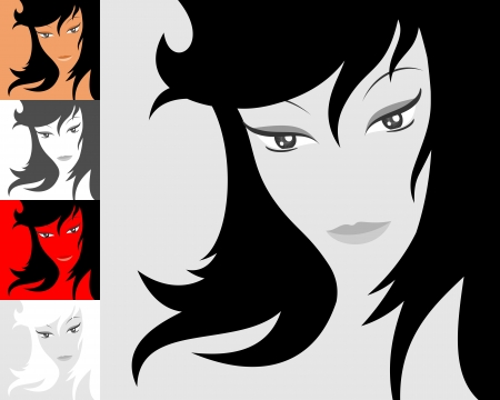 Female face image illustration Banco de Imagens - 25472490