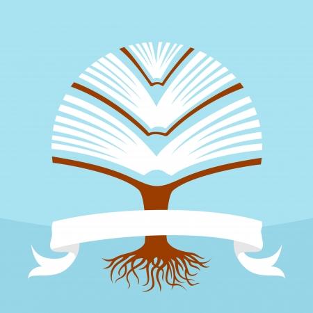 Tree book illustration
