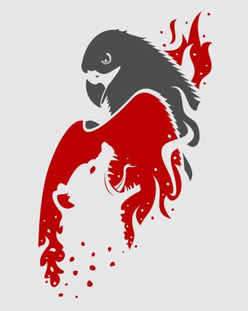 iene: Berkut contro iene Vettoriali