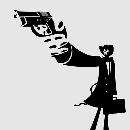 Dangerous Man Stock Vector - 27328268