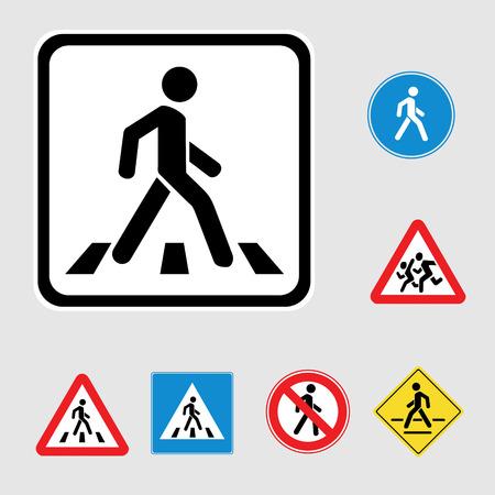 pedestrian walkway: Pedestrian sign