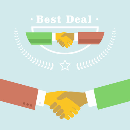shaking hands: Best deal