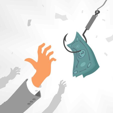 capitalismo: Capitalismo Bait Vectores