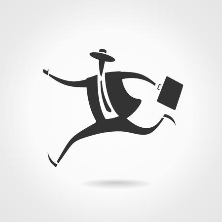 Running businessman Ilustracja