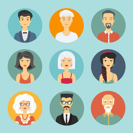 avatar people circle icon for design profiles royalty free cliparts